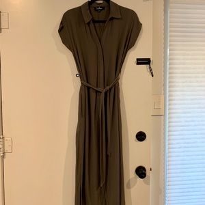 Lulus maxi dress with tie waist